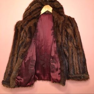 VTG MINK waist length fur coat